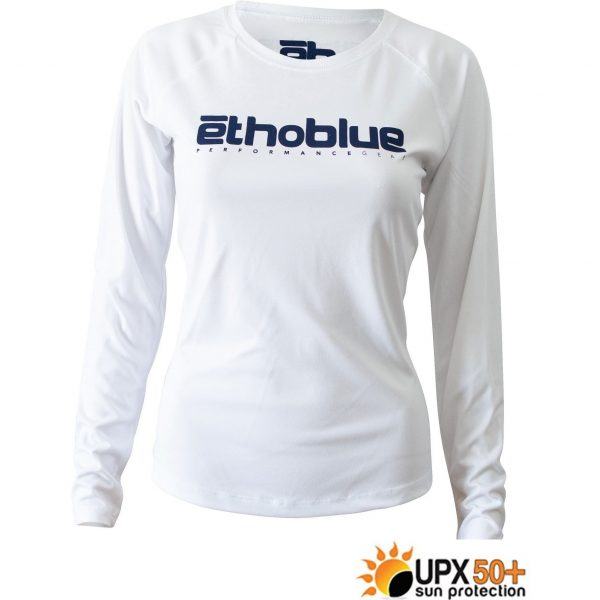 Solar Long Sleeve Womens White 2000x