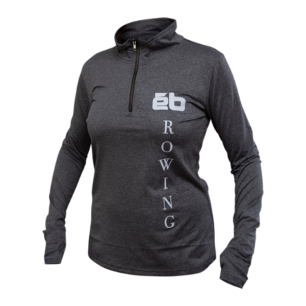 qtr zip grey rowing womens